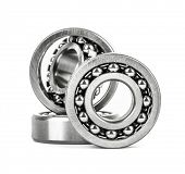 Ball bearing isolated on white background