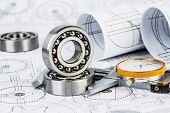picture of ball bearing  - Technical drawings with the Ball bearings - JPG