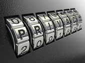picture of three-dimensional  - Privacy password combination concept - JPG