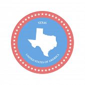 Texas. United states. Vector illustration. eps8