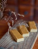 image of ginger-bread  - Close up of home made ginger bread - JPG