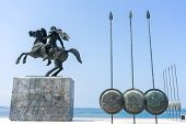 image of great horse  - Alexander the Great Spears of his soldiers Thessaloniki Greece - JPG