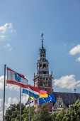 Flags In Front Of The Rathaus In Leer