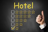 Thumbs Up Chalkboard Hotel Rating One Star