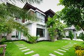 image of penthouse  - The new Modern house in the garden - JPG