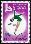 Postage Stamp Romania 1979 Figure Skating