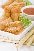 stock photo of wanton  - Asian Starters  - JPG