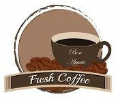 Illustration of a fresh coffee on a white background