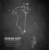 Bahrain map blackboard chalkboard vector