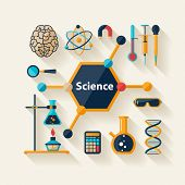 Science and Education. Flat design.