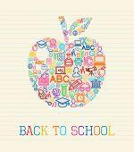 Back To School Apple Concept Illustration