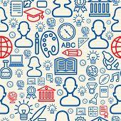 Education Seamless Pattern Illustration