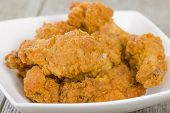 image of southern fried chicken  - Fried Hot Chicken Wings  - JPG