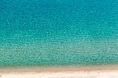 Beautiful Beach With Blue And Turquoise Water At Kailithea, Halkidiki In Greece.
