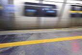 Platform - Subway - moving train
