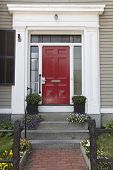 image of front-entry  - Red front door - JPG