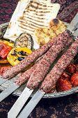 picture of kababs  - kabab koobideh - JPG