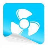 fan blue sticker icon