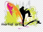Karate. Editable vector, eps 10