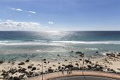 Kirra beach and boardwalk, view from Kirra Lookout