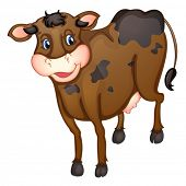 Illustration of a brown cow