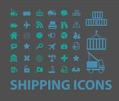 shipping, delivery icons, signs, symbols, objects, illustrations set. vector