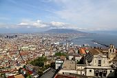 Naples, Italy - April 12, 2014: Panorama Of Naples. Naples Is The Capital Of The Italian Region Camp