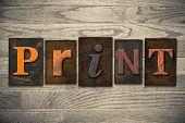 Print Concept Wooden Letterpress Type