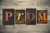 Prom Concept Wooden Letterpress Type