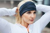 Sporty Fitness Woman On Outdoor Workout Looking Motivated