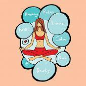 girl  in the lotus asana
