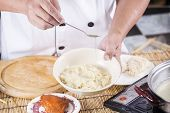 pic of noodles  - Chef cooking Noodle with vegetable oil  - JPG
