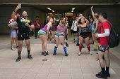 People Without Pants In The Union Station During The