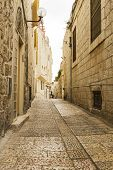 Jerusalem Street In The Old City .