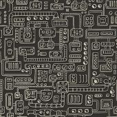 Seamless pattern with some kind of electrical appliances.
