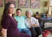 Pregnant Surrogate Mom With Couple
