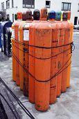 Helium Gaz Tanks