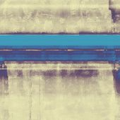 Abstract composition on textured, vintage background with grunge stains. With different color patterns: purple (violet); cyan; blue; gray