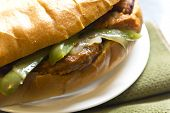 Sausage Onions And Peppers Sandwich