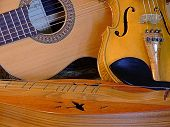 stock photo of bluegrass  - classical guitar - JPG