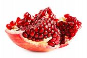Cut Ripe Juicy Pomegranate