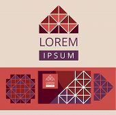 bstract modern geometric logo and design elements. Crystal structure.
