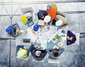 picture of workstation  - Brainstorming Planning Partnership Strategy Workstation Business Administratation Concept - JPG