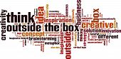 Think Outside The Box Word Cloud
