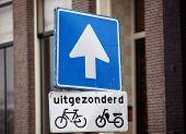 Amsterdam bike sign.