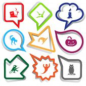 Mystic signs set. Paper stickers. Vector illustration.