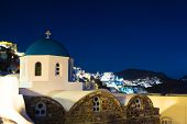 Church At Oia During Twilight