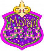 Illustration of Mardi Gras blazon