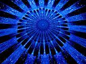 The Heart Of Blue Mandala