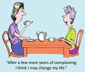 picture of gag  - The woman needs some change management to quell her complaining - JPG